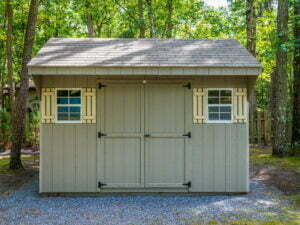 Green Carriage House Shed